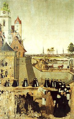 Resurrection of the Widow's son from Nain - Lucas Cranach, the younger. c. 1569