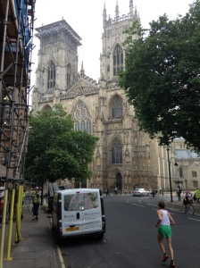 York Minster - from the door of the hotel. From here I can see home!
