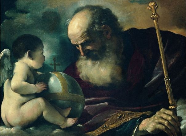 God the Father with angel - Giovan Francesco Barbieri