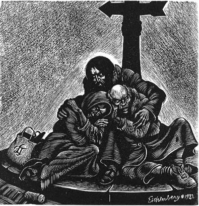 Christ of the Homeless - Fritz Eichenberg