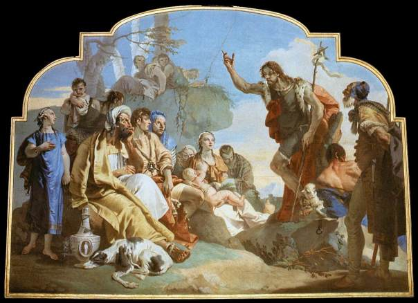John the Baptist preaching - Giovanni Battista Tiepolo