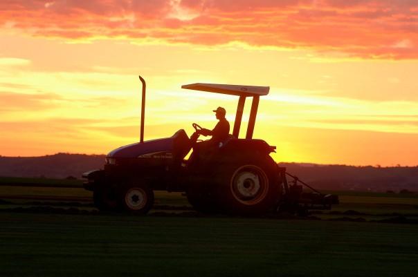 tractorsunset