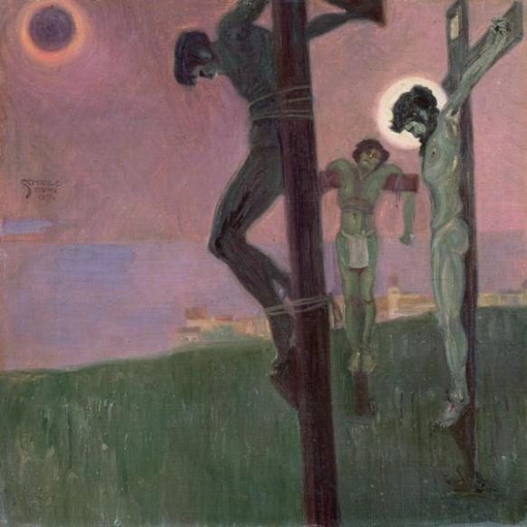 Crucifixion with Darkened Sun - Egon Schiele