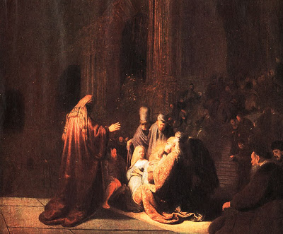 Presentation of Christ in the Temple - Rembrandt