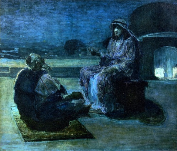 Christ and Nicodemus on the roof top - Henry Ossawa Turner
