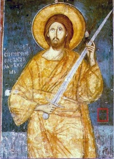 Christ and sword