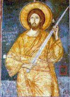 Christ and sword