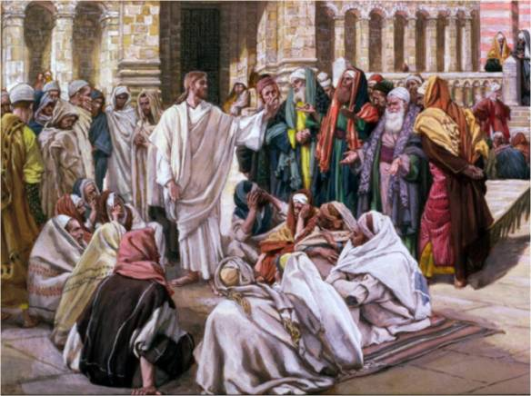 Jesus teaching at the Temple - James Tissot