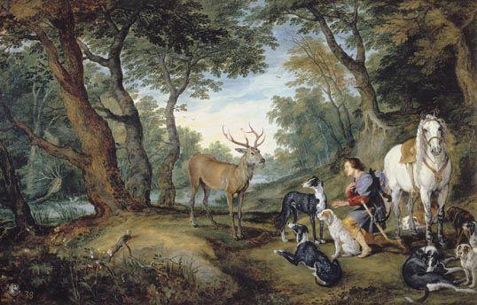 The Vision of Saint Hubert - Jan Brueghel - after Rubens