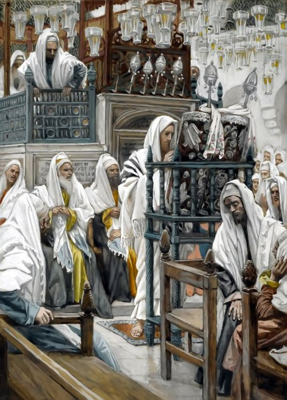 Jesus Unrolls the Book in the Synagogue James Tissot 1894