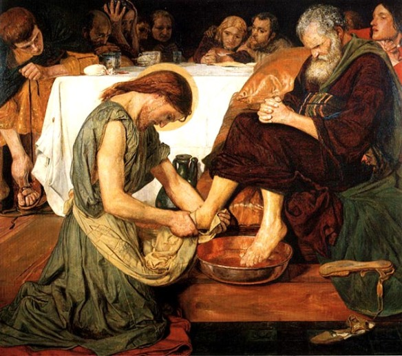 jesus washing peters feet by ford madox brown