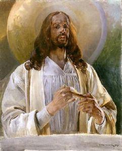 Jacek Malczewski - Christ in Emaus.