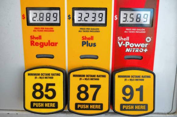 Gasoline prices at Shell in Denver